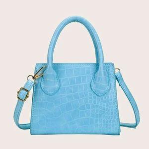 ✨NWT BLUE CROC MINI BAG
